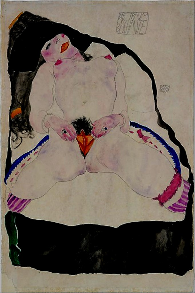 Egon Schiele. Girl seen in a dream 1911