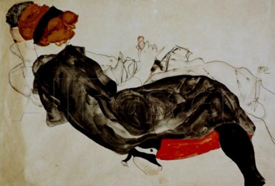 Egon Schiele. Lovers  1912. Via huariqueje on tumblr