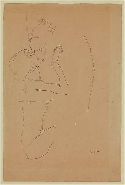 Egon Schiele. The kiss 1911
