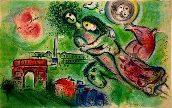 Marc Chagall. Roméo et Juliette 1964. Plafond Opéra de Paris