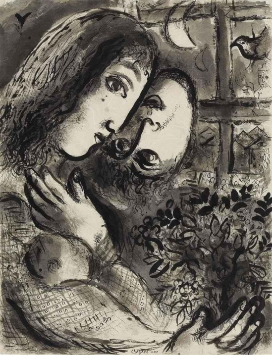 Marc Chagall. Amoureux aux têtes inversées 1964. Viadapplewithshadow on tumblr