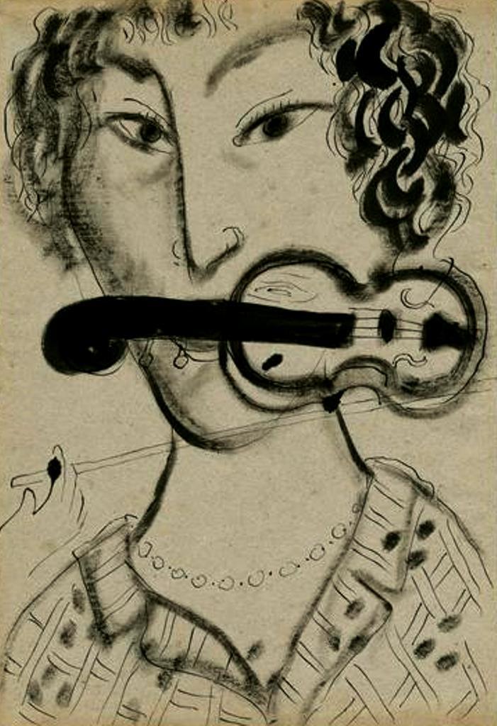 Marc Chagall. Autoportrait au violon 1954