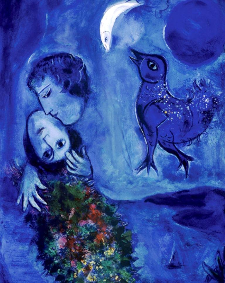 Marc Chagall. Blue landscape 1949