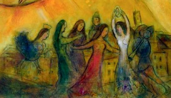Marc Chagall. La danse (détail) 1950-1952. ®RMN
