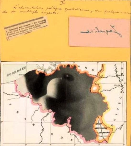 Marcel Mariën. Lettre collage. Undated. Via belgian-heritage