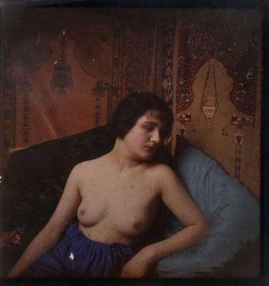 A Lumière Autochrome Nude Portrait Study