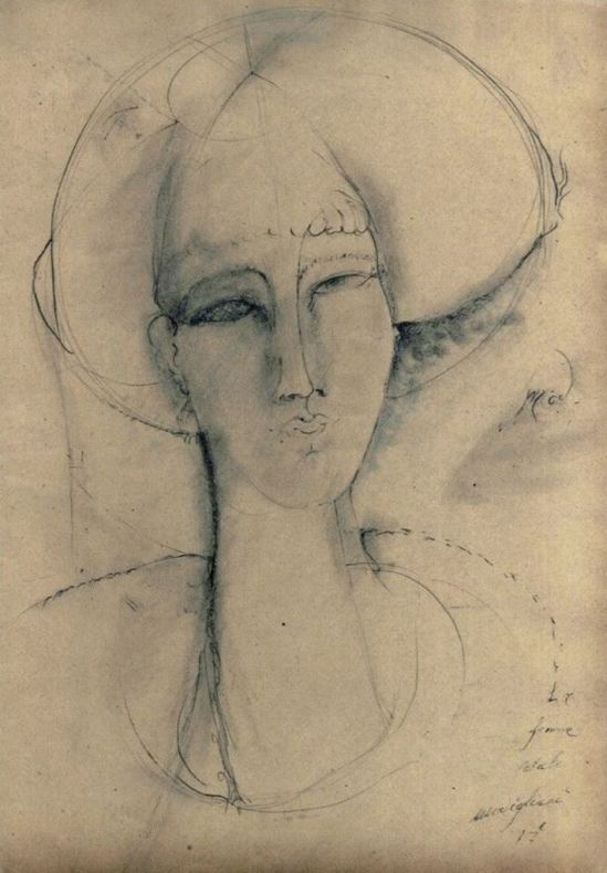 Amedeo Modigliani. La femme fatale 1917. Via estudioartefacto on tumblr