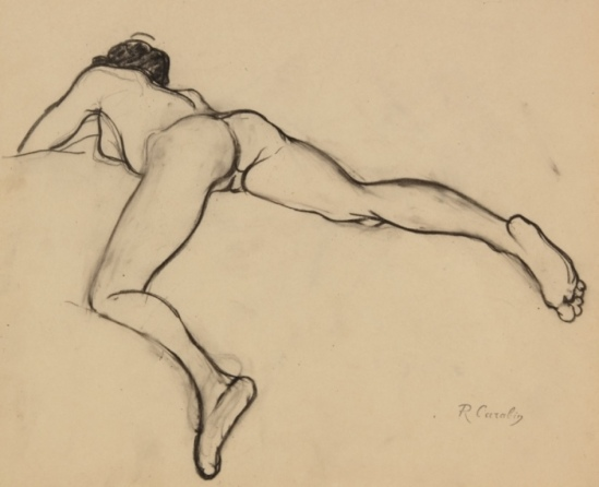 François-Rupert Carabin. Nude female lying face down 1910. Via circlesofcircles on tumblr