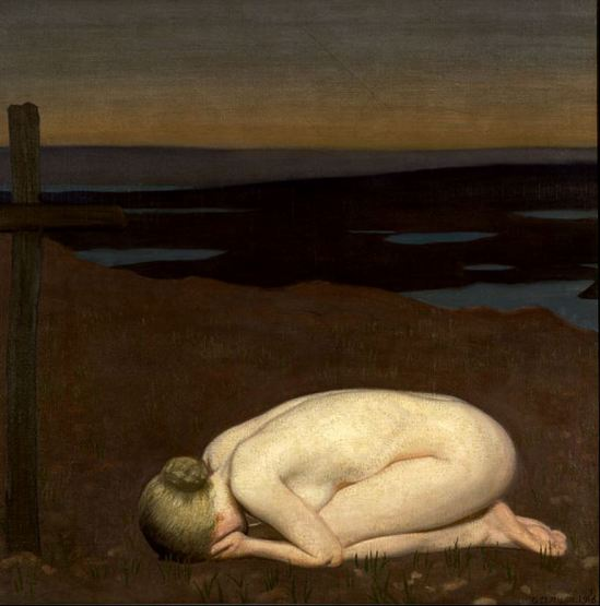 George Clausen. Youth mourning 1916