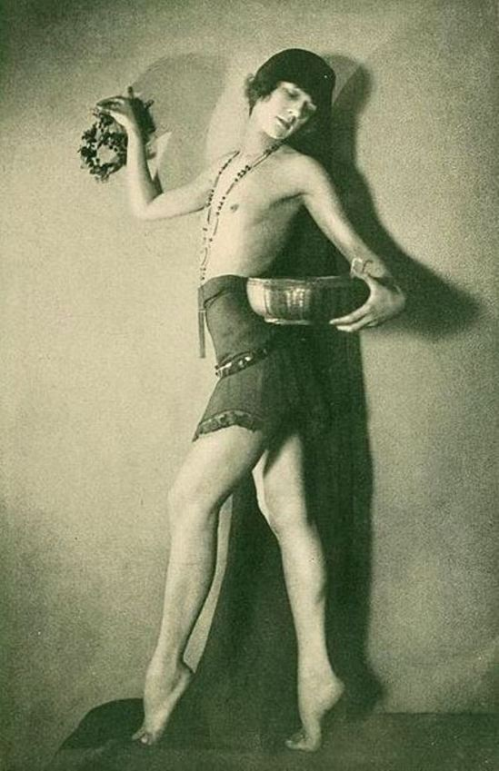 Interpretive dancer Florence French, on page 45 of the December 1922 Shadowland