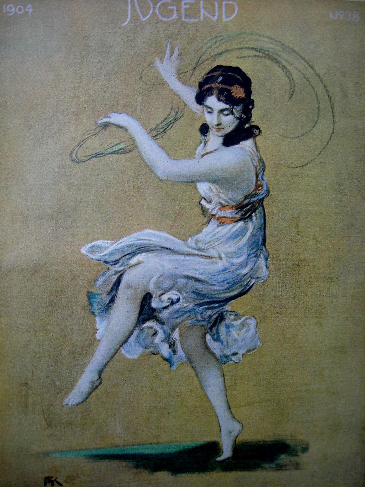 Jugend. Münchner illustrierte Wochenschrift für Kunst und Leben. 1904, Nr. 38. Illustrationen von F. A. v. Kaulbach. Isadora Duncan