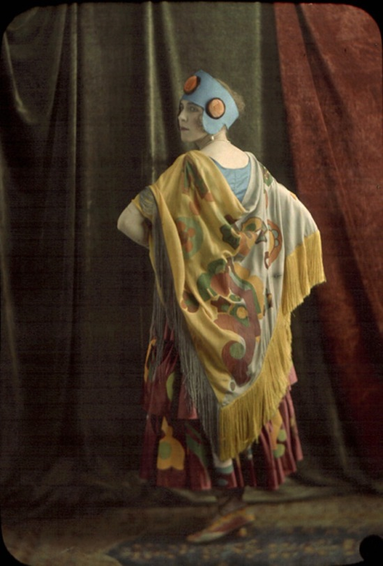 Louis and Auguste Lumière (attributed to). Woman in colorful costume 1912. Autochrome. Via iphotocentral