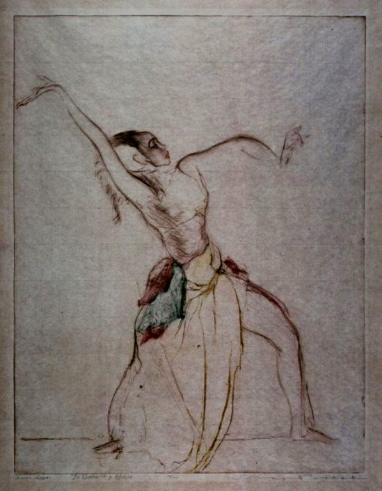 Max Pollak. Devi Dja, Javanese dancer