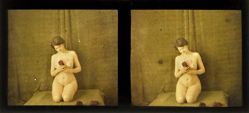 Nude Stereo Autochrome Slides1, c. 1910
