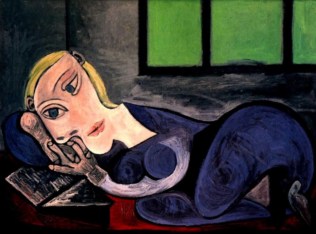 Pablo Picasso. Femme allongée lisant (Marie-thérèse) 1939