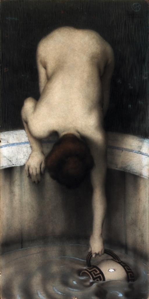Raphael Kirchner. Femme puisant de l'eau