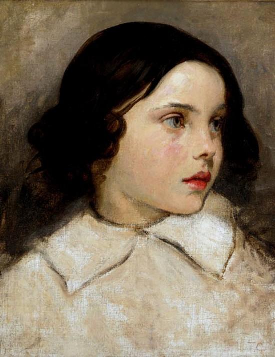Thomas Couture (1815-1879). Portrait d'une jeune fille