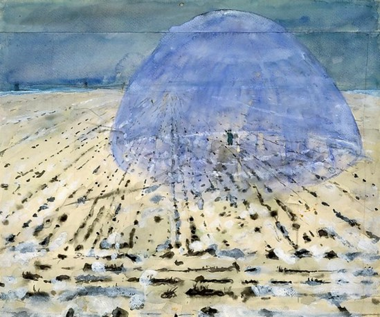 Anselm Kiefer. Everyone Stands Under His Own Dome of Heaven 1970