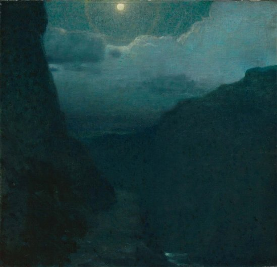 Edward Steichen. Moonlight landscape 1903. Oil on canvas