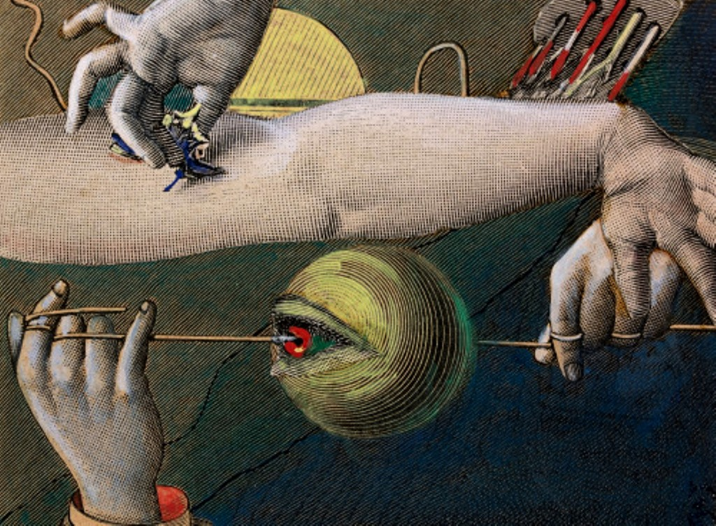 Max Ernst. Sans titre 1921. Collage and gouache on paper