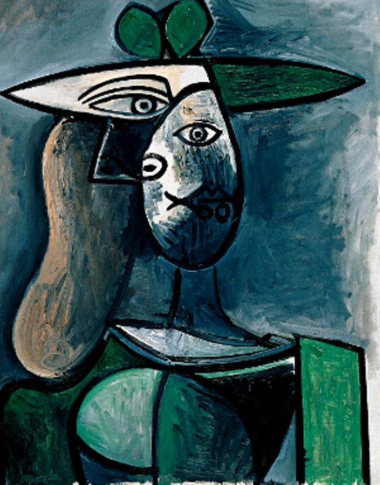 Pablo Picasso. Femme au chapeau vert 1947