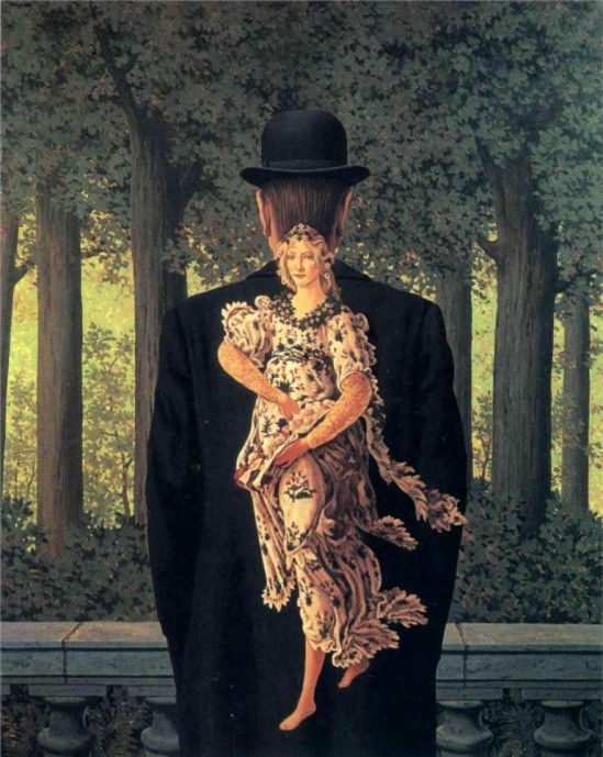 René Magritte. The prepared bouquet 1957