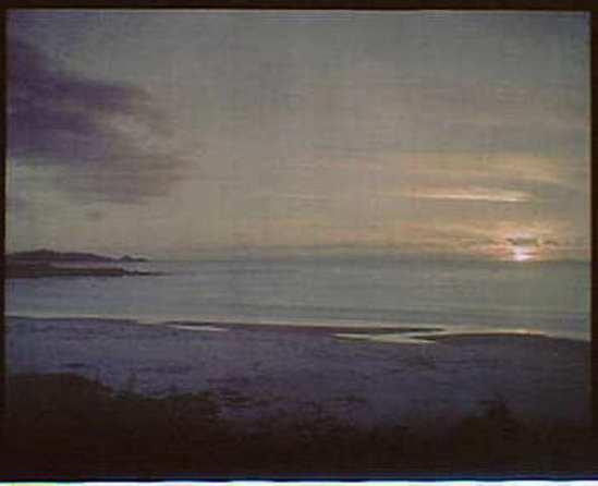 Arnold Genthe. Sunset water, California 1906. Autochrome. Via ebay