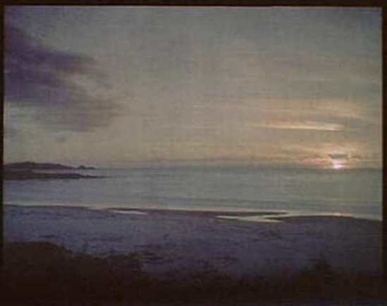 Arnold Genthe. Sunset water, California 1906. Autochrome. Via ebay