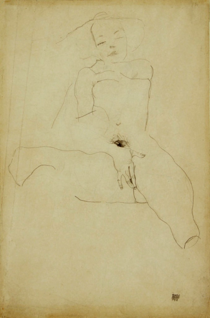 Egon Schiele. Seated Female Nude 1911