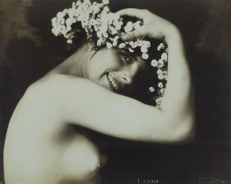Frantisek Drtikol.  Half nude 1920s. Via invaluable