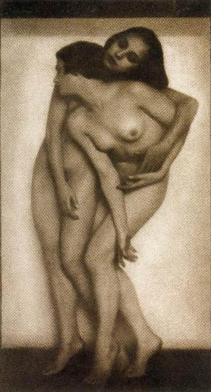 Rudolf Koppitz. Doppelakt 1925. Via delcampe