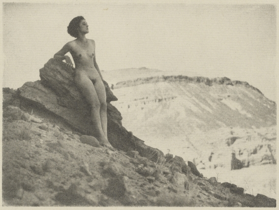 Arthur F. Kales. Female Nude on Rocky Cliff 1920. Via getty