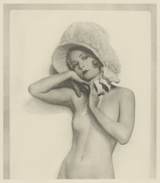 Arthur F. Kales. Female Nude Wearing Lace Bonnet. Via getty