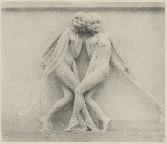 Arthur F. Kales. Two Draped Female Nudes Wearing Curly, Blonde Wigs1920. Via getty