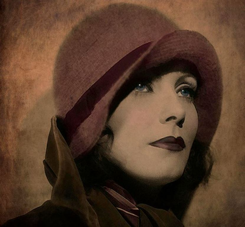 ®Marie Gale. Greta Garbo. Digital art 2012