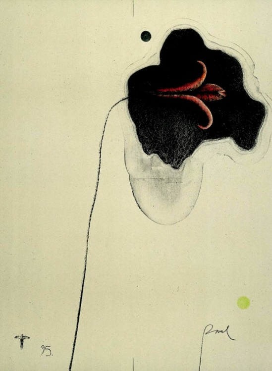 Paul Wunderlich.  Flower for K 1995