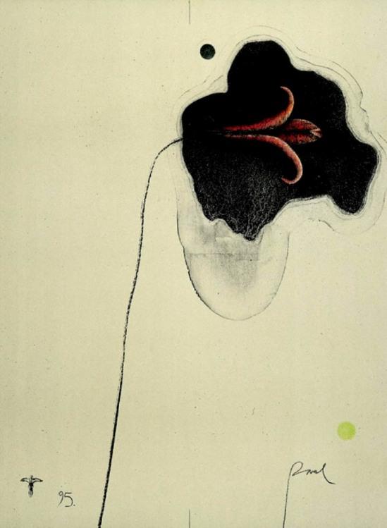 Paul Wunderlich.  Flower for K 1995