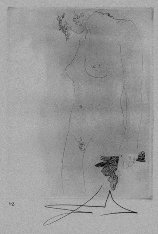 Salvador Dali. Ustensiles de traversée. Les Chants de Maldoror. Etching