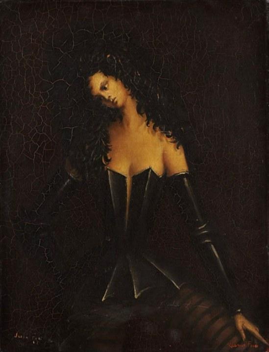 leonor-fini-femme-en-armure-1938-huile-sur-toile