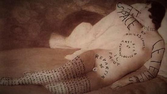 marcel-marien-lettre-ouverte-aux-psychanalystes-1955-collage-via-blouinartinfo