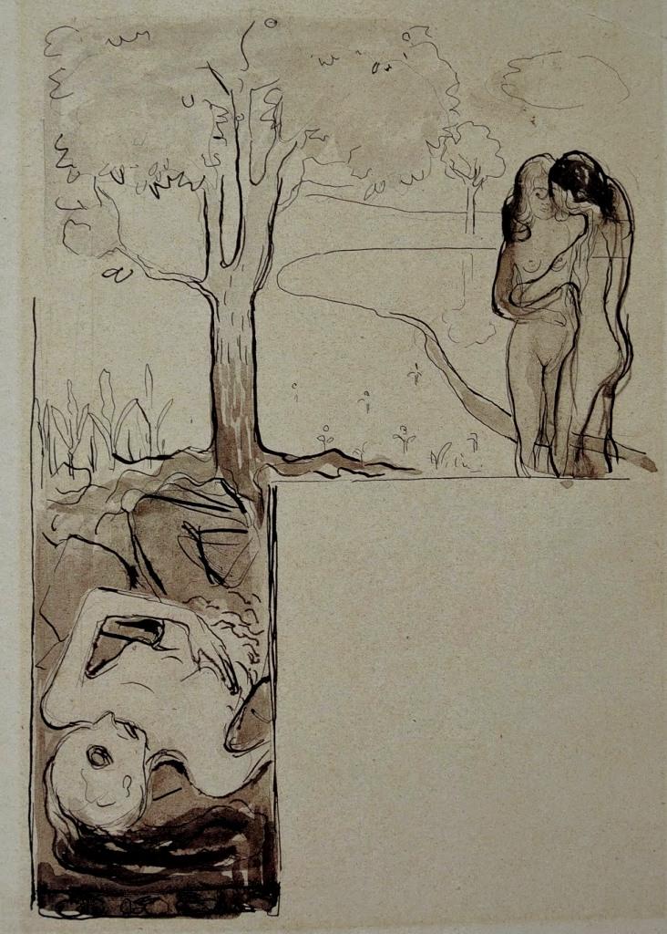 edvard-munch-illustration-pour-les-fleurs-du-mal-1896