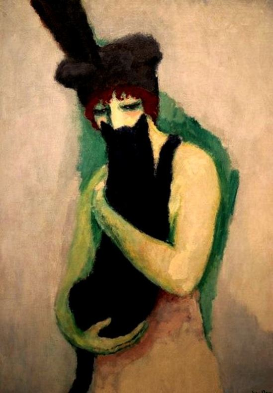 kees-van-dongen-woman-with-cat