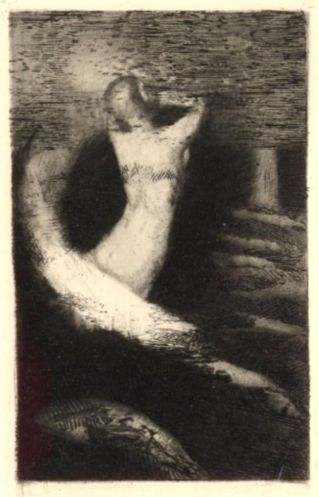 odilon-redon-passage-dune-ame-pasage-of-a-soul-frontispiece-for-la-passante-1891-via-1910again-on-tumblr