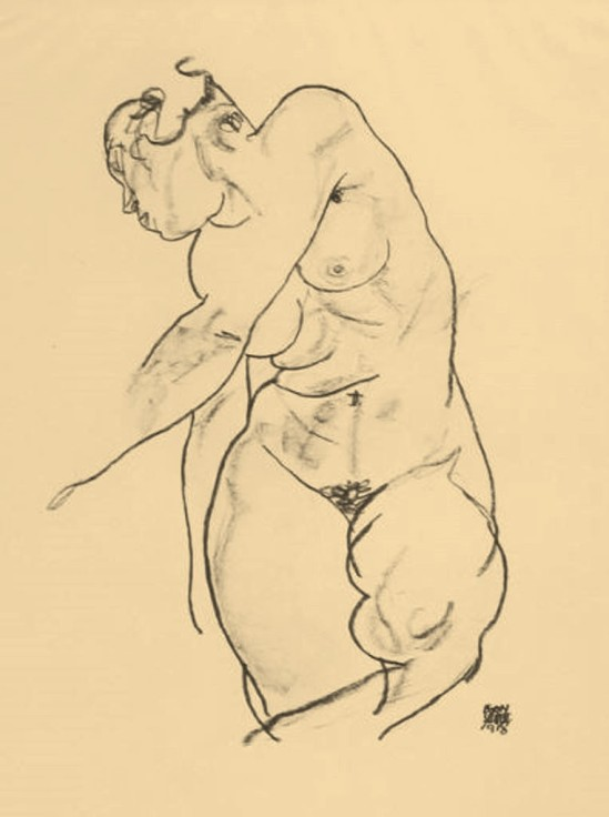 egon-schiele-female-nude-from-the-portfolio-handzeichnungen-1918-published-in-1920