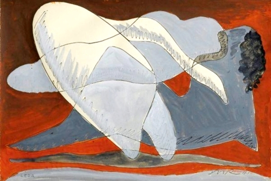 man-ray-leda-1941-gouache-brush-and-ink-on-paper-man-ray-trust