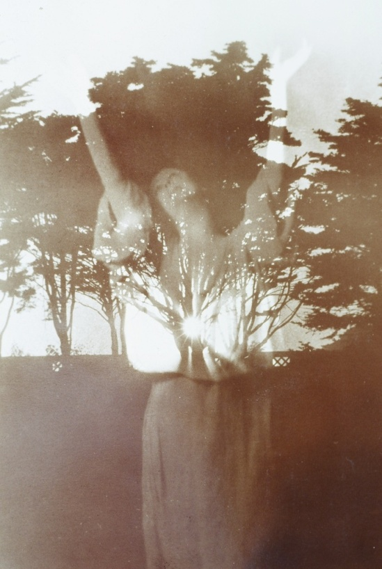 Arnold Genthe. Isadora Duncan. Double exposure by Richard Stoots