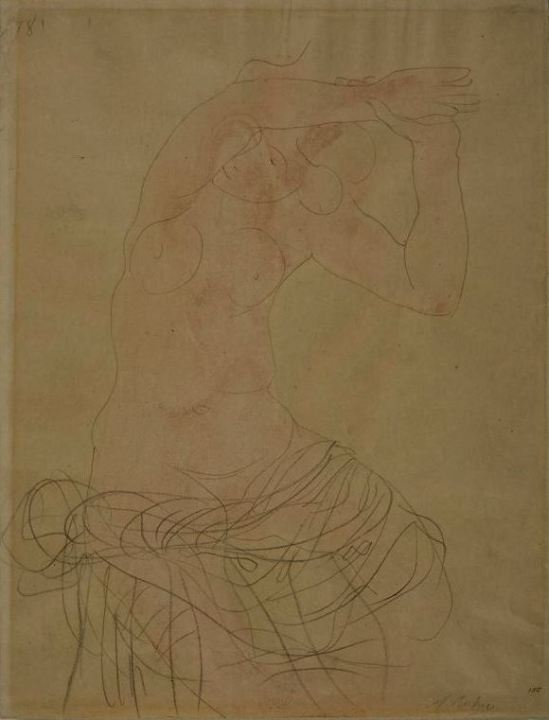 auguste-rodin-seated-female-nude-with-arms-raised