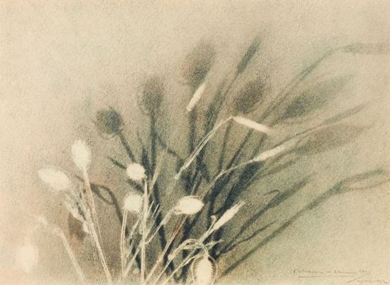 Blanc & Demilly. Fleurs 1927. Color gum bichromate. Via artnet