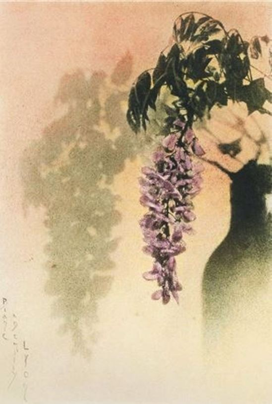 Blanc & Demilly. Glycine 1927. Color gum bichromate. Via artnet