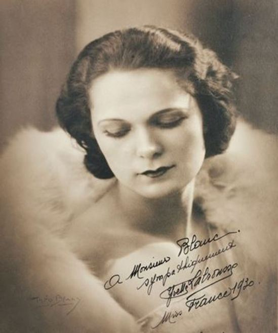 Blanc & Demilly. Yvette Labrousse, Miss France 1930. Via artnet